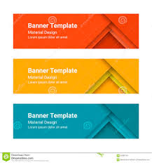 Banner In Web Design Set Of Modern Colorful Horizontal Vector Banners In A