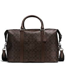 Get Quotations · COACH Signature Voyager Men s Duffle Gym Travel Bag  Mahogany Brown  F54776