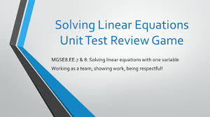 linear equations game jennarocca solving linear equations unit test review game linear equations game graphing linear equations unit test