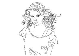 Small Picture Taylor Swift Coloring Page for Kids Color Luna