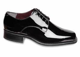 black patent leather oxford