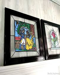 beauty and the beast faux stained glass diy reality daydream