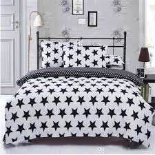 black white star pattern printing bedding sets twin queen super king size 2 duvet cover pillowcase comforter duvet cover comforters and duvet covers from