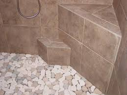 how to clean bathroom tile floor exclusive pebble shower floors for tiled showers how to install
