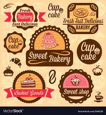 Bakery Goods Labels Royalty Free Vector Image Vectorstock