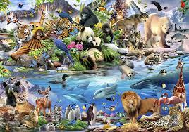 Dieren Behang Wildlife Muurdeco4kids