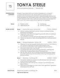 Resume For Servers Unforgettable Restaurant Server Resume Examples To Stand Out