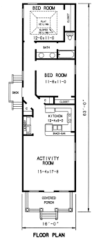 one story house plans for narrow lots best of lot floor within recent one story house
