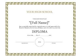 High School Diploma Certificate Fancy Design Templates Diploma Free High School Diploma Template 8ws
