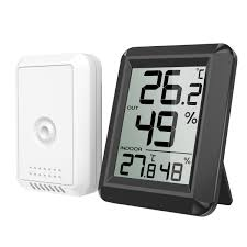 Oria Thermometer Hygrometer Innen Außen Thermometer Digital Temperatur Und Luftfeuchtigkeit Monitor Thermo Hygrometer Mit Außensensor Großem Lcd