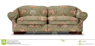 Old Sofa Old Floral Sofa Front Stock Photography Image 31442692