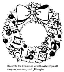 Christmas Wreath Coloring Page Crayolacom