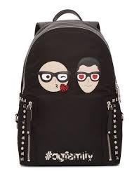 Black Designer Backpack Dolce Gabbana Black Designer Heads Backpack