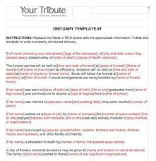 Free Obituary Templates Template E Download Announcement Example In ...