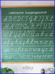 Vintage German Pull Roll Down School Wall Chart The Alphabet