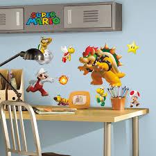 Mario Bros Bedroom Decor Nintendo Super Mario Peel And Stick Wall Decals Walmartcom