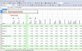 Sample Of Business Expenses Spreadsheet Excel Monthly Small Example