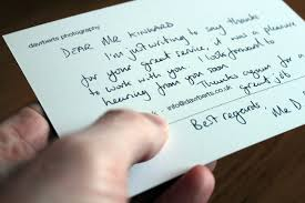 how to write a business thank you note sample notes