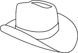 Hat Cowboy Hat Outline Coloring Pages Hats Pinterest Hats