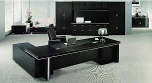 designs for office. Table Designs For Office Ideas Dark Brown Wooden U Shape Rectangle Black