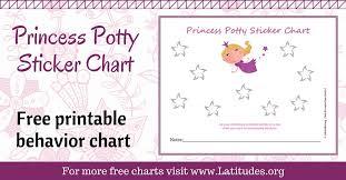 Princess Potty Chart Free Potty Training Sticker Chart Cute Princess Acn