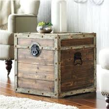 Kids Nightstands: Leather Storage Trunks And Chests Antique Style Storage  Chest Secret Compartment Nightstand Small