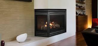gas fireplace contemporary closed hearth corner corner