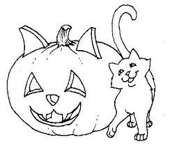 Gatto E Zucca Di Halloween Stampa E Colora Il Disegno Disegni Da
