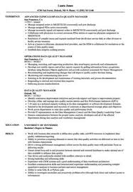 Quality Assurance Plan Example Quality Manager 4 Resume Examples Resume Resume Examples