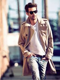 men wear trench coat with style 7