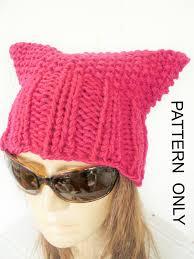 Pussyhat Pattern Simple Diy Gift Cat Hat Knitting Pattern Pussy Hat Pussy Cat Hat
