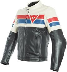 dainese 8 track black ice red leather jacket