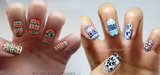 Decorative Nail Art Designs Christmas Sweater Nail Art Designs Ideas 100 100 X mas Nails 5