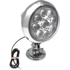 6 led deck spot light with round bracket