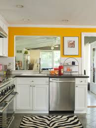 Small Kitchen Color Scheme Example Of Light Green Wall Paint Featuring In An Open Bright