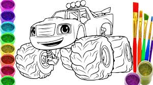 Blaze The Monster Machine Coloring Pages Free Coloring For Kids 2019
