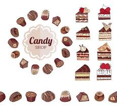 chocolate candy borders.  Borders Different Chocolate Candies And Slices Of Cake On White Frame Seamless  Horizontal Border In Chocolate Candy Borders O