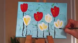 tanja bell how to paint white and red tulips painting technique tutorial lesson