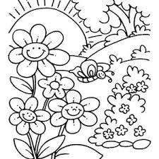 Small Picture Blooming Spring Flower Coloring Page Blooming Spring Flower