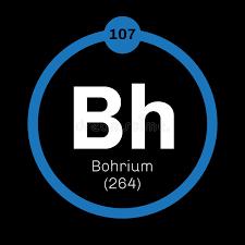 Bohrium chemical element stock vector. Image of mendeleev - 83098892
