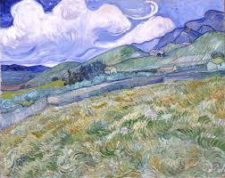vincent van gogh landscape from saint r eacute my glyptoteket vincent van gogh landscape from saint reacutemy