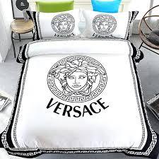 versace bed set luxury brand bedding set cotton brushed comforter duvet cover set style full queen versace bed set