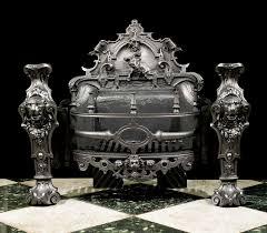a monumental coalbrookdale antique cast iron victorian fire grate