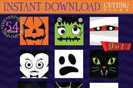 7 css3 animated weather icons. Halloween Monster Face Svg Halloween Bundle Monster Icons 39991 Svgs Design Bundles