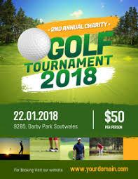 270 Golf Tournament Customizable Design Templates