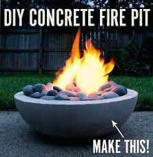 diy concrete fire bowl diy tabletop concrete fire bowl diy concrete fire bowl