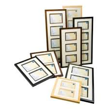kenro ambassador 6x4 4 aperture black photo frame pack 1