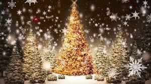 Falling Christmas Tree Lights Snowflakes Falling Christmas Trees Motion Graphic Video Loop Free Download Hd