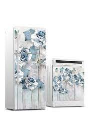 Buzdolabı ve Bulaşık Makinası Sticker Kaplama Gül Kurusu - Duvar Dekorasyon  Sticker