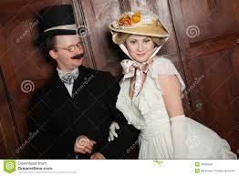 couple in 19th century garment w in dominant role stock couple in 19th century garment w in dominant role royalty stock images
